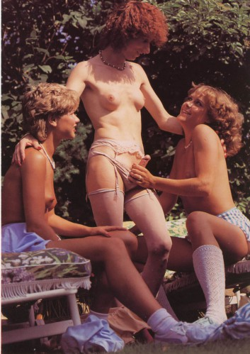 vintage shemale orgy outdoors